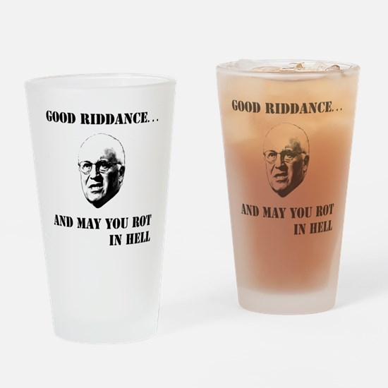2-cheney hell b Drinking Glass