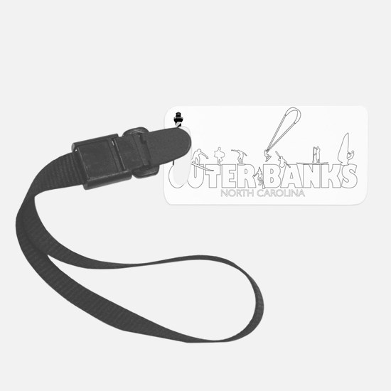 OUTERBANKS-watersports-white Luggage Tag
