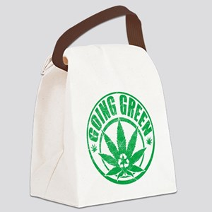 Going-Green-T-Shirt Canvas Lunch Bag