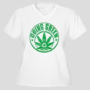 Going-Green-T-Shi Women's Plus Size V-Neck T-Shirt