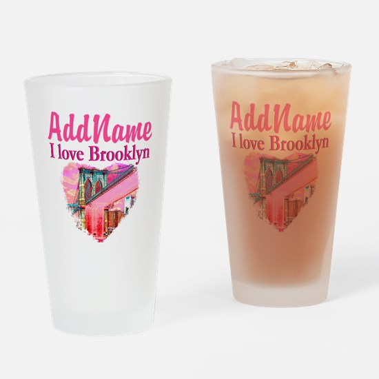 LOVE BROOKLYN Drinking Glass