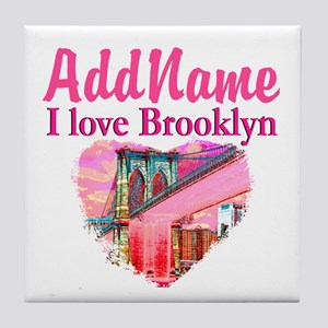 LOVE BROOKLYN Tile Coaster