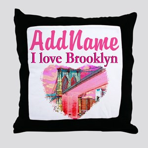 LOVE BROOKLYN Throw Pillow