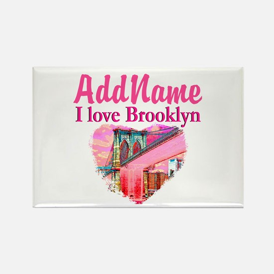LOVE BROOKLYN Rectangle Magnet