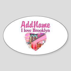 LOVE BROOKLYN Sticker (Oval)