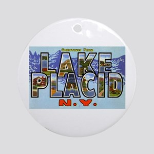 Lake Placid New York Ornament (Round)