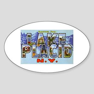 Lake Placid New York Oval Sticker