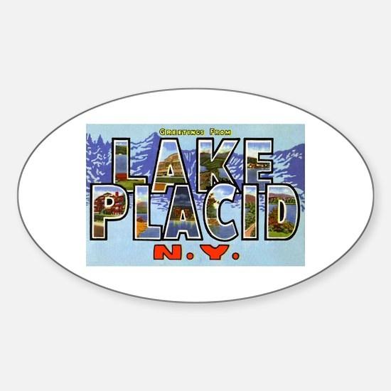 Lake Placid New York Oval Decal