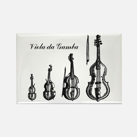 Viola da Gamba Rectangle Magnet