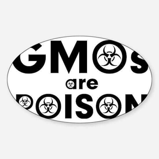 gmos are poison Sticker (Oval)