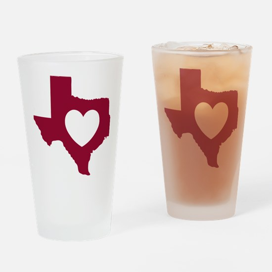 heart_maroon Drinking Glass