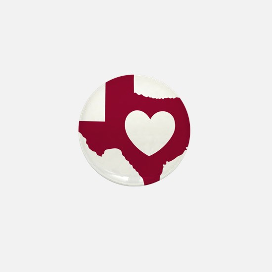 heart_maroon Mini Button