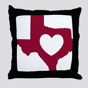 heart_maroon Throw Pillow