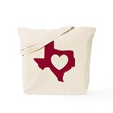 Texas Canvas Tote Bag