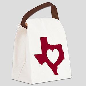 heart_maroon Canvas Lunch Bag