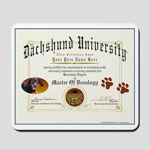 DACHSHUND Diploma Mousepad