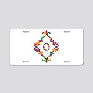 Colorful Letter O Monogram Aluminum License Plate