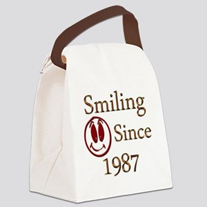 smiling 87 Canvas Lunch Bag