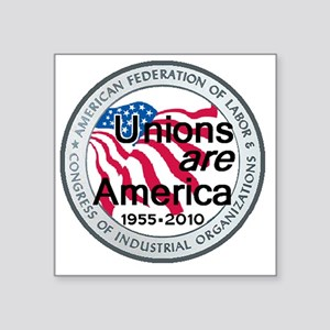 """Labor Day Square Sticker 3"""" x 3"""""""