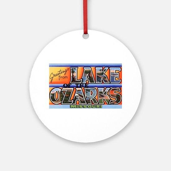 Lake of the Ozarks Missouri Ornament (Round)