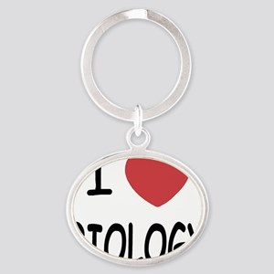 BIOLOGY Oval Keychain