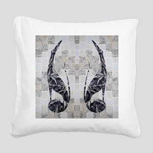 Brindle Duo Square Canvas Pillow