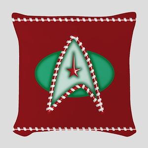 Star Trek Christmas Woven Throw Pillow