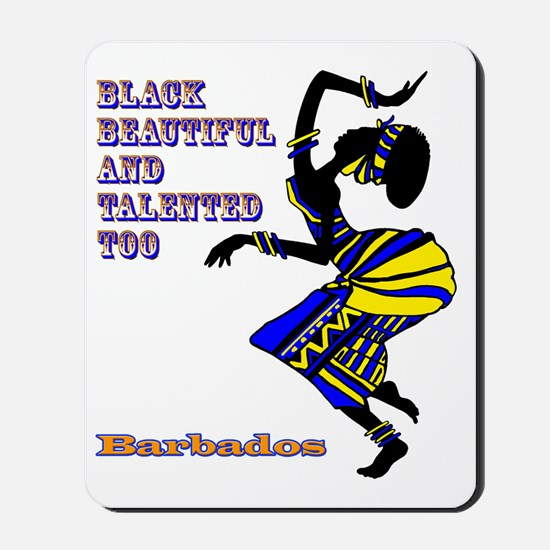 BLACK BEAUTIFUL BARBADOS Mousepad