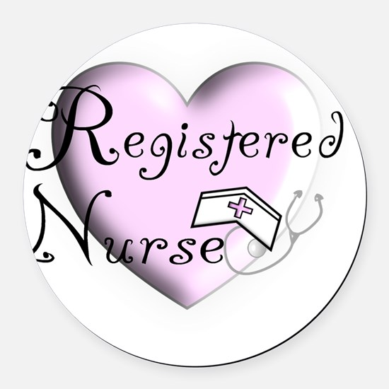 Registered Nurse Round Car Magnet