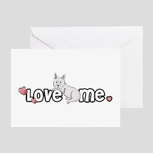 Love Me Westie Greeting Cards (Pk of 10)