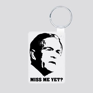 bush_miss_me Aluminum Photo Keychain