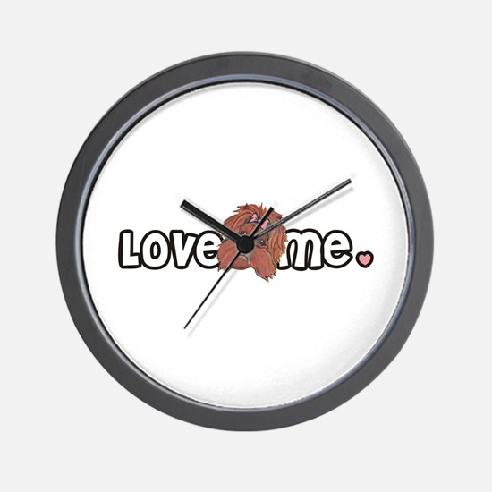 Love me Yorkshire Terrier Wall Clock