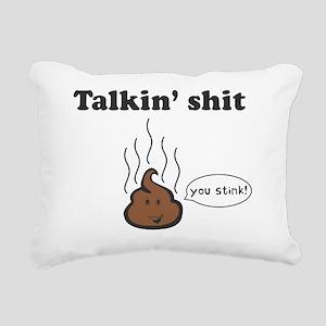 talkin shit-1 Rectangular Canvas Pillow