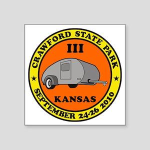 "CrawfordL10 Square Sticker 3"" x 3"""