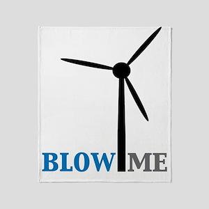 blow me wind turbine Throw Blanket