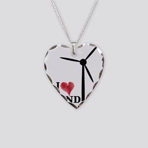 i love wind Necklace Heart Charm