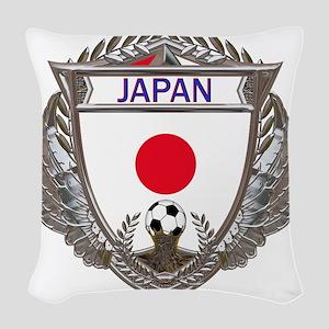 Japan Soccer Gym Bag Woven Throw Pillow