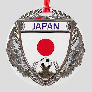 Japan Soccer Gym Bag Round Ornament