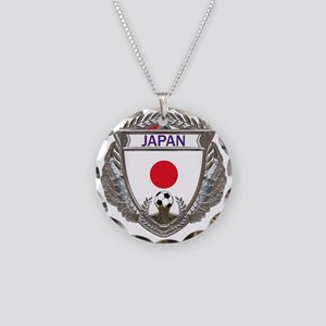 Japan Soccer Gym Bag Necklace Circle Charm