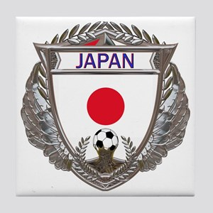 Japan Soccer Gym Bag Tile Coaster