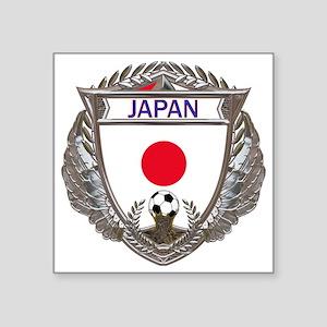 "Japan Soccer Gym Bag Square Sticker 3"" x 3"""