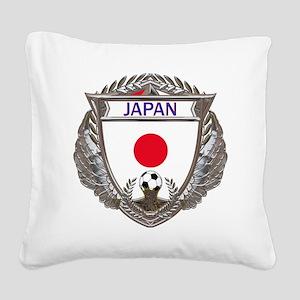 Japan Soccer Gym Bag Square Canvas Pillow