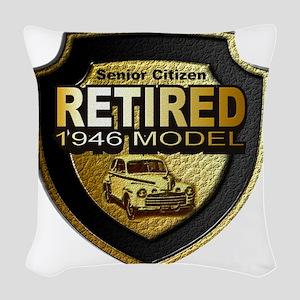 Born 1946 12x12 Woven Throw Pillow