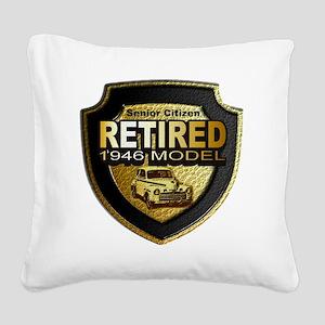 Born 1946 12x12 Square Canvas Pillow