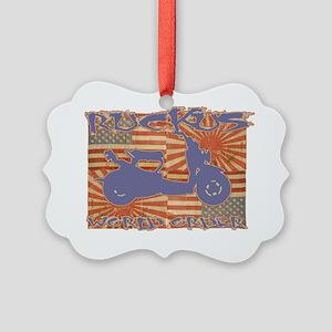 RuckWorldOrder copy Picture Ornament