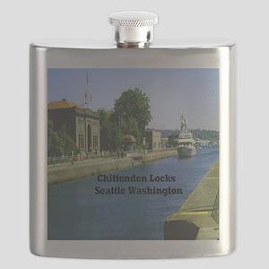 Chittenden Locks Seattle Washington 11x11 Flask