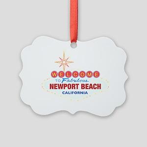 NEWPORT BEACH Picture Ornament