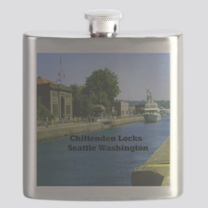Chittenden Locks Seattle Washington 9.5x8 Flask