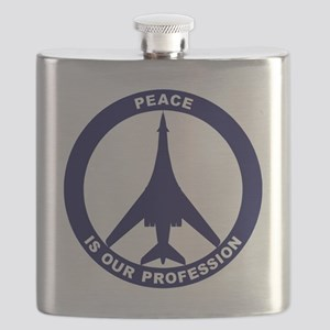Peace Is Our Profession - B-1B Navy Blue Flask