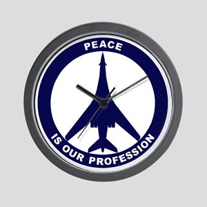 Peace Is Our Profession - B-1B Navy Blu Wall Clock